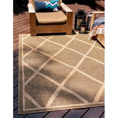 Unique Loom Diamonds Outdoor Rug Walmart Com Outdoor Trellis Trellis Rug Area Rugs