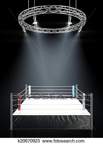 Boxing Ring 3d Rendered Illustration Of A Boxing Arena Spon Rendered Ring Boxing Arena Boxing Ad Boxing Rings Stock Illustration Box