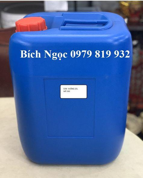 Can nhựa vuông đựng hóa chất 20L nhựa HDPE có tính đàn hồi chịu được lực va đập tốt, thành can dầy dặn chắc chắn an toàn