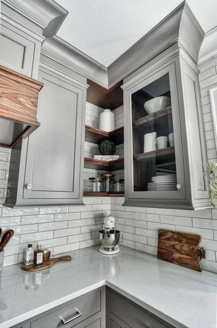 Cabinets Layouts In 2020 Upper Kitchen Cabinets Kitchen Corner Kitchen Wall Colors