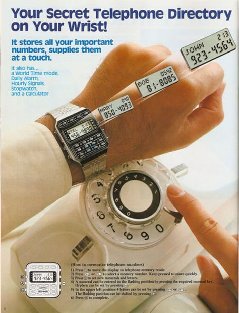 1984: Your secret telephone directory on your wrist