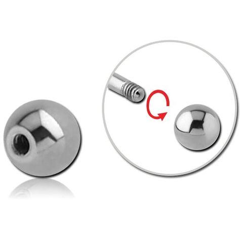 1.6 mm Titan Gewinde Ersatz Kugel Piercing Ball Schraub Aufsatz Einzelteil