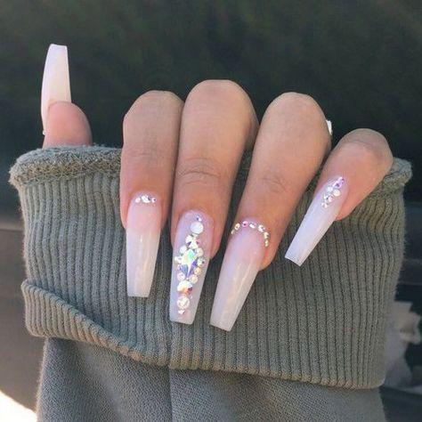 Nails, dope nails, rhinestone nails, prom nails, nails perfect na