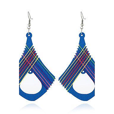 Pentru femei Design Unic Modă Euramerican Lemn cercei Bijuterii Verde / Albastru Pentru Nuntă Petrecere Zi de Naștere Cadou
