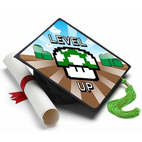 Level Up Grad Cap Tassel Topper