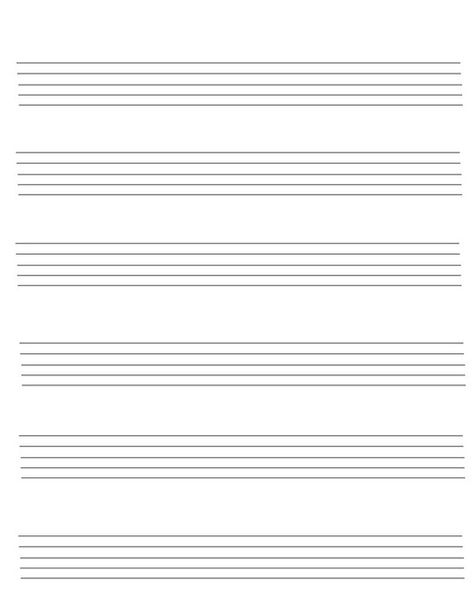 Music Paper  Download Template As Pdf Tags Penultimate Staff