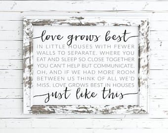 Love Grows Best In Little Houses Digital By Saravroomandesigns Home Poem Little Houses Words