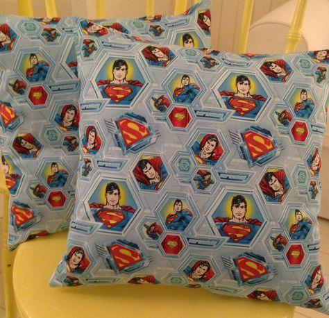 SUPERMAN Superhero - Retro Vintage Cushion 40cm x 40cm £12.50 ... www.facebook.com/dottyabout.SewDotty