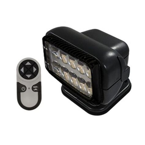 LED Permanent Mount Radioray w/Remote-Blk