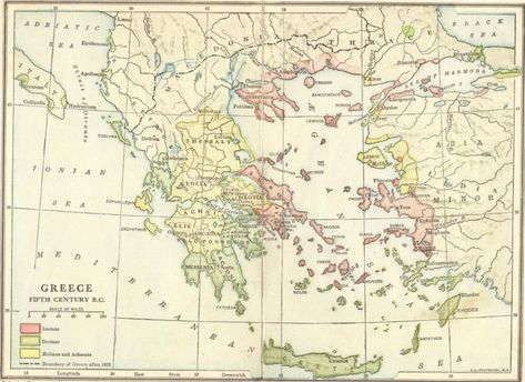 Ancient Greece in the 5th Century BCE - Map | Homeschool - Story of ...