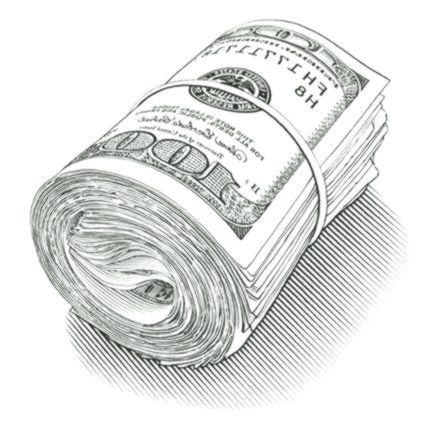 Dollars Roll Isolated On White Background Spon Roll Dollars Isolated Background White Ad Tattoos For Guys Cover Art Design White Stock Image
