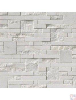 Buy Greecian White Opus 12x12 Marble Mosaic Marble Mosaic Stacked Stone Panels Backsplash