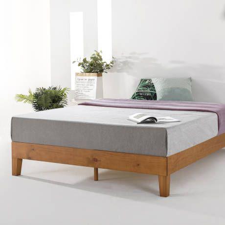 Harney Platform Bed Frame Wooden Bedroom Furniture Platform Bed