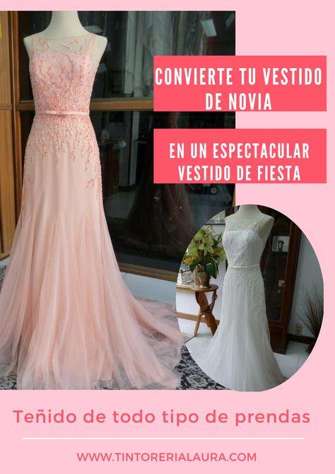 teñido vestido de novia#transformar vestido de novia# cambiar el