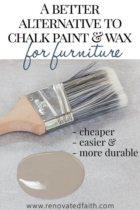 The Best Alternative to Chalk Paint – SO much cheaper & easier! This furniture paint is easy to use and the tutorial shows techniques and unlimited color options. The tutorial also shows how to chalk paint with dark wax alternative and how to use Valspar Upcycled Furniture, Furniture Projects, Furniture Makeover, Garden Furniture, Furniture Design, Furniture Stores, Furniture Outlet, Bedroom Furniture, Ikea Furniture