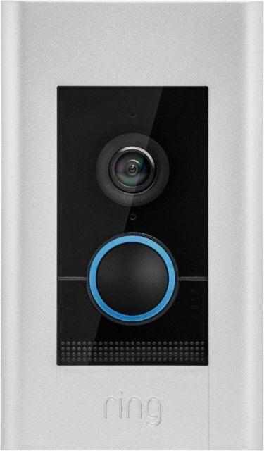 Ring Video Doorbell Elite Satin Nickel 8vr1e7 0en0 Best Buy Doorbell Ring Video Doorbell Ring Video