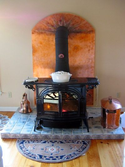 Wood Burning Stove Surround Tile 34 Ideas Wood Stove Wood Stove Fireplace Wood Stove Surround