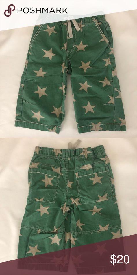 61ad8f2b03e2 Mini Boden Stars Board Shorts Size 9 EUC Mini Boden, long board shorts,  worn very lightly, elastic waist with drawstring, green with star pattern,  ...