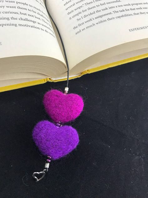 Double Heart Book Marks