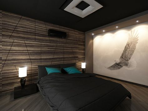 22 Bachelor S Pad Bedrooms For Young Energetic Men Idee Chambre