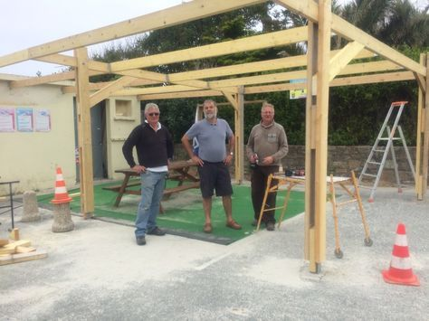 Wooden carport   for professional use - A1 - Collstrop Car Port - combien coute une maison en autoconstruction