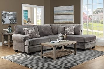 Living Room Furniture The Lana Collection 2 Pc Sectional Leons