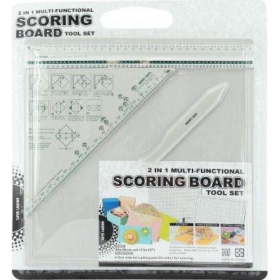 مورن سان لوح تقطيع الورق متعدد الوظائف 2 في 1 ومجموعة أدوات جانب للتقطيع والاخر للتسجيل أبيض General Crafts Scoreboard Scrapbook