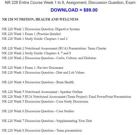 Nutrition case study quizlet