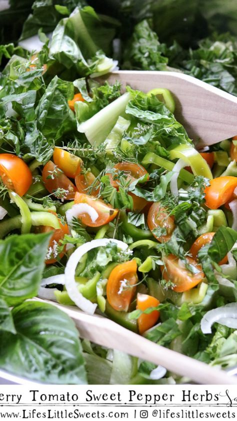 Cherry Tomato Sweet Pepper Herbs Salad Recipe