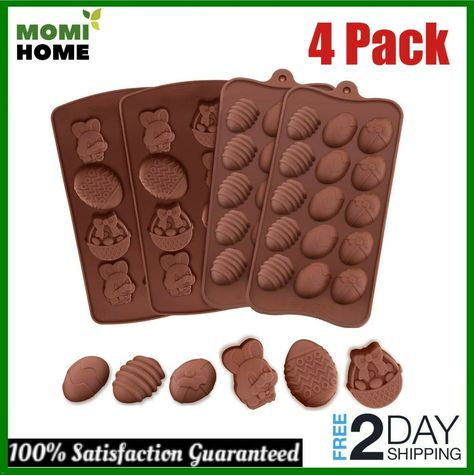 Easter Egg Shape Silicone Chocolate Mold Baking Cake Cookie Ice Mould Fondant De
