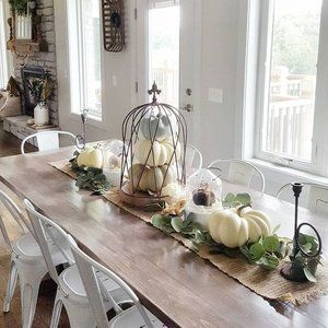 Affordable Fall Decor Ideas To Cozy Up Your Home 2020 Swift Fall Dining Room Table Farmhouse Table Centerpieces Fall Dining Room