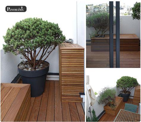Terrasse En Ipé à Paris 16 Trocadero Banc Bac En Bois