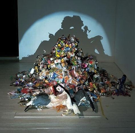 Remarkable Shadow Art Put Together With Trash Blows Your Mind Away