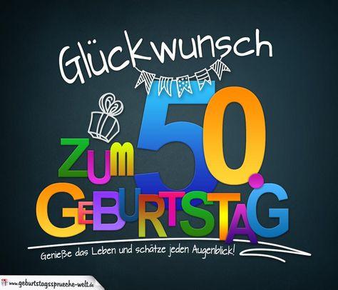 Spruche Zum 50 Geburtstag Karte Mit Schonem Spruch Zum