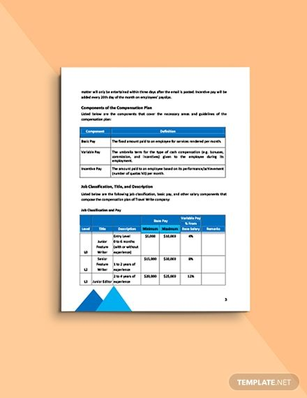 Staffing Compensation Plan Template Free Pdf Google Docs Word Apple Pages Pdf Template Net Templates Word Doc How To Plan