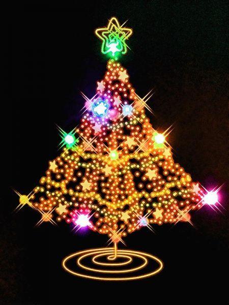 Light Up Art Led Canvas Wall Painting Christmas Tree Wall Canvas Painting Christmas Tree Painting Light Up Art