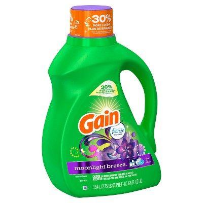 Gain Moonlight Breeze With Febreze Freshness Liquid Laundry