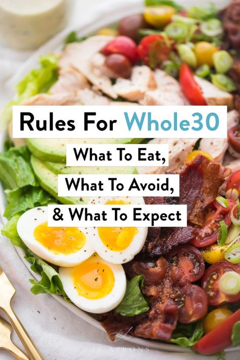 The Whole30 diet doesn't have to be complicated with this easy-to-follow list of does and don'ts. By using these rules for Whole30, succeeding can be so simple! #whole30 #rules #healthy #whole30rules