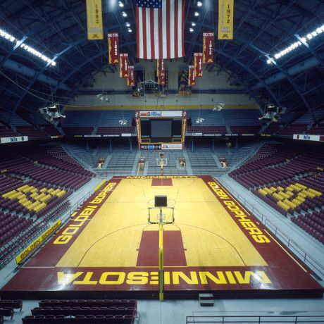Inside The Barn Williams Arena In Minneapolis Minnesota Home Of The Minnesota Gophers Basketball Team Minnesota Gophers Minnesota Home Gopher Basketball
