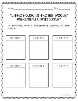 Little House In The Big Woods Novel Unit Study Activities