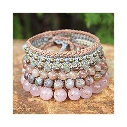 'Bangkok Rose' crochet Bracelet