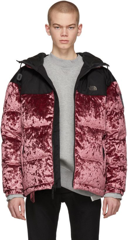 6d9250dcd The North Face Black Series - Red Down Velvet Urban Nuptse Jacket ...