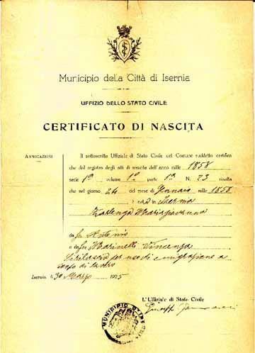 Sample of an Italian birth certificate Itu0027s whatu0027s not on here - birth certificate