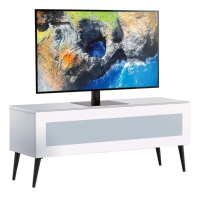 Meuble Tv L120 Cm Solna Blanc Meuble Tv Flat Screen