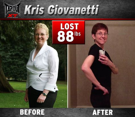 Kris lost 88 pounds with TapouT XT!! New body, epic transformation!
