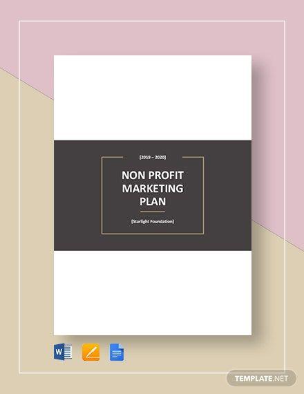 Nonprofit Business Plan Template Word Doc Google Docs Apple Mac Pages Template Marketing Plan Template Nonprofit Marketing Nonprofit Marketing Plan