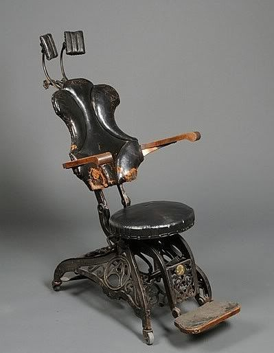 Ancienne Chaise De Dentiste Materiel Medical Vintage Art