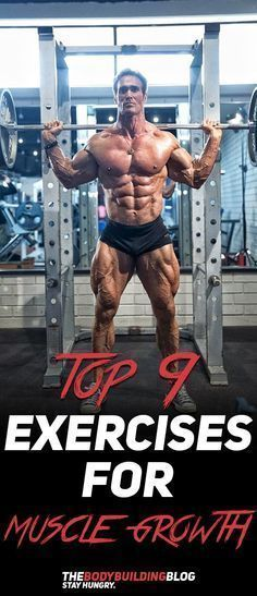 Find Out What Are The Top 9 Best Exercises For Muscle Growth Fitness Gym Workout Exercise Bodybuildi Workout Programs Bodybuilding Workouts Muscle Growth