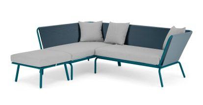 Essential Tice Garden Corner Sofa Teal And Grey In 2020 Corner Sofa Sofa Teal Sofa