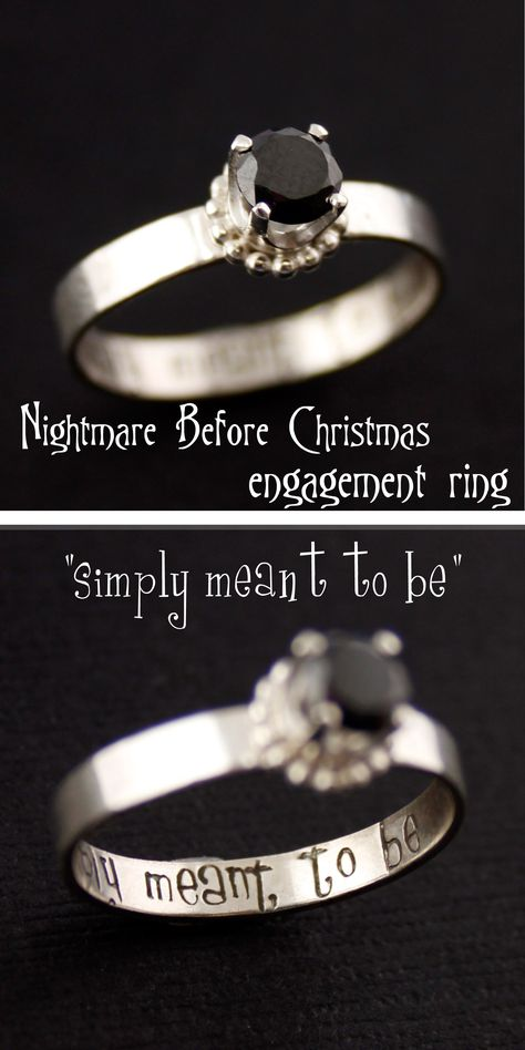 """Nightmare Before Christmas Engagement Ring """"simply meant to be"""" from Spiffing Jewelry"""